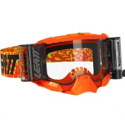 Leatt 5.5 Velocity Neon Orange Clear Lens Roll Off Goggles