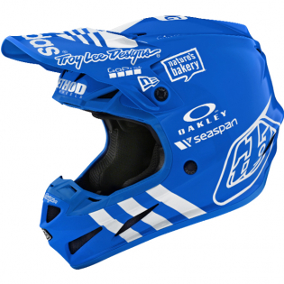Troy Lee Designs SE4 LE Adidas Team Blue Composite Helmet
