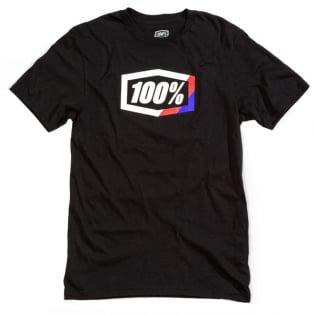 100% Kids Stripes Black T Shirt