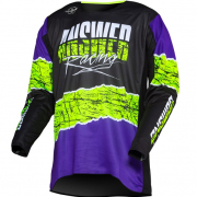 Answer Trinity Pro Glo Ltd Ed Purple HyperAcid Black Jersey