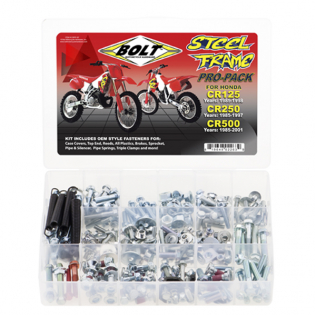 Bolt Pro Pack Steel Frame Bolt Kit Honda CR 250