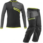 Acerbis Enduro One Enduro Kit Combo - Black Fluo Yellow