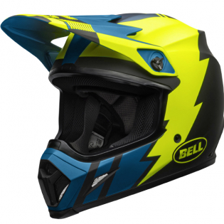 Bell MX9 MIPS Strike Blue Yellow Helmet