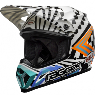 MX9 MIPS Tagger Check Me Out White Black Helmet