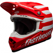 Bell Moto 9 MIPS Fasthouse Signia Red White Helmet