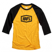 100% Essential 3/4 Tech Goldenrod T Shirt