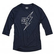 100% Helgi 3/4 Tech Navy Heather T Shirt
