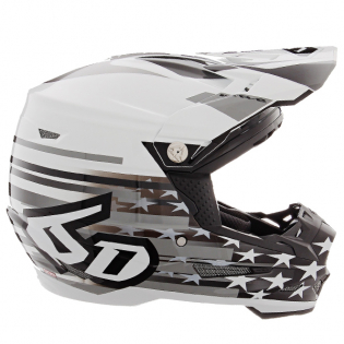 6D ATR-2 Patriot Gloss White Helmet