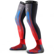 EVS Fusion Blue Red Knee Brace Sleeve & Sock