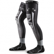 EVS Fusion Black Grey Knee Brace Sleeve & Sock