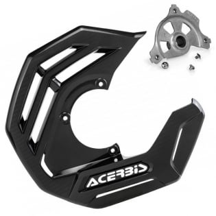Acerbis X-Future Black Front Disc Protector - Incl Mount