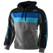 Troy Lee Designs Block Signature Grey Blue Hoodie