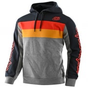 Troy Lee Designs Block Signature Grey Orange Hoodie