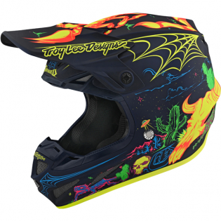 Troy Lee Designs SE4 Composite LE Stranded Navy Helmet