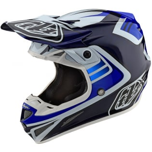 Troy Lee Designs SE4 Carbon Helmet - Spring Flash Blue White