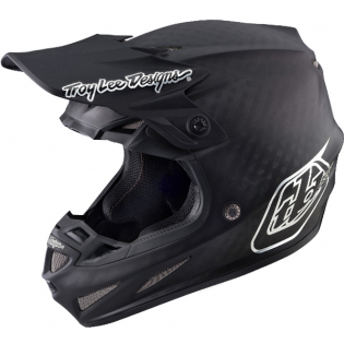 Troy Lee Designs SE4 Carbon Helmet - Midnight Black Chrome