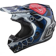 Troy Lee Designs SE4 Polyacrylite Helmet - Skully Silver