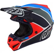 Troy Lee Designs SE4 Polyacrylite Helmet - Beta Orange Navy