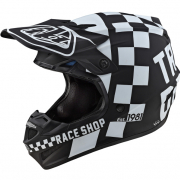 Troy Lee Designs SE4 Polyacrylite Helmet - Checker Black White