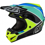 Troy Lee Designs SE4 Polyacrylite Helmet - Beta Yellow Black