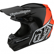 Troy Lee Designs Kids GP Block Black Orange Helmet