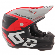 6D ATR-2 Helo Red Grey Helmet