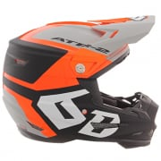 6D ATR-2 Helo Orange Grey Helmet