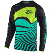 Troy Lee Designs GP Air Drift Black Turquoise Jersey