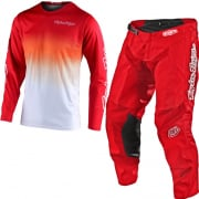 Troy Lee Designs GP Staind Red White Kit Combo