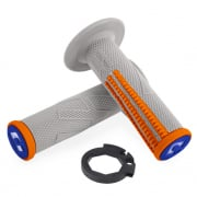 ODI EMIG Pro V2 Lock On Grey Orange Motocross Grips