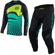 Troy Lee Designs Kids GP Air Drift Black Turquoise Kit Combo
