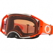 Oakley Airbrake Hazard White Orange Prizm Bronze MX Goggles
