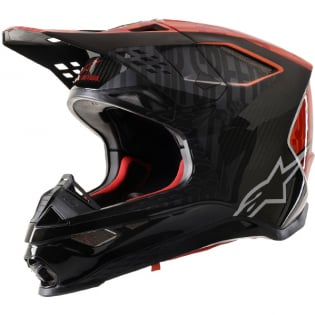 Alpinestars Supertech SM10 Alloy Black Orange Flo Red Helmet