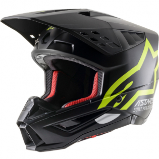 Alpinestars Supertech SM5 Compass Matt Black Yellow Helmet