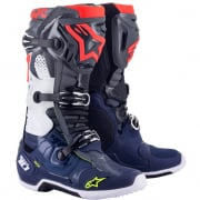 Alpinestars Tech 10 Dark Grey Blue Red Flou Boots