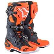 Alpinestars Tech 10 Cool Grey Orange Flou Boots