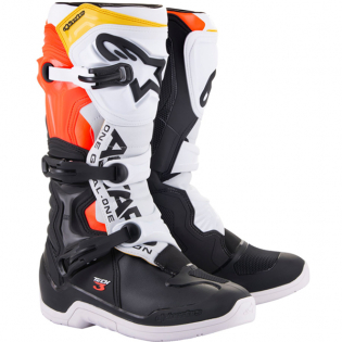 Alpinestars Tech 3 Boots - Black White Red Flou Yellow