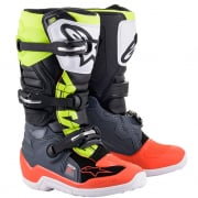 Alpinestars Kids Tech 7S Dark Grey Red Yellow Fluo Boots