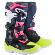 Alpinestars Youth Boots Tech 3S - Black Dark Blue Pink Flou