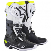 Alpinestars Tech 10 Black White Fluorescent Yellow Boots