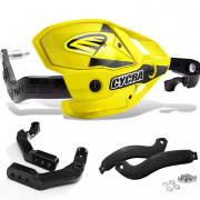 Cycra Ultra ProBend HCM Bar Clamp Mount Handguards - Yellow