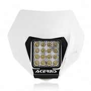 Acerbis KTM White VSL LED Headlight Universal Fit