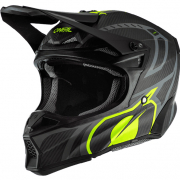 ONeal 10 Series Carbon Race Black Neon Yellow Motocross Helmet