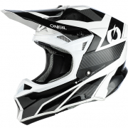 ONeal 10 Series Hyperlite Compact Black White Motocross Helmet