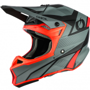 ONeal 10 Series Hyperlite Compact Grey Red Motocross Helmet