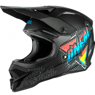 ONeal 3 Series Speedmetal Black Multi Motocross Helmet