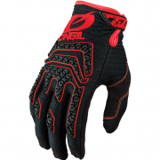 ONeal Sniper Elite Black Red Motocross Gloves