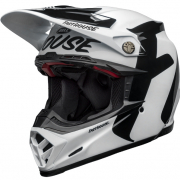 Bell Moto 9 Carbon Flex Fasthouse Newhall White Black Helmet