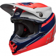 Bell Moto 9 MIPS Prophecy Gloss Infrared Navy Gray Helmet