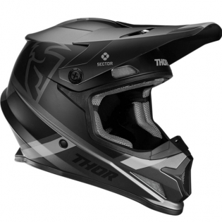 Thor Sector MIPS Split Charcoal Black Helmet